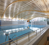 Derako lineair plafondsyteem, Abingdon School Sports Centre, Groot-Brittannië