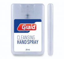 Hand cleansing spray