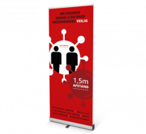 COVID-19 Roll-upbanners - Rood
