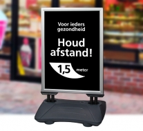Houd afstand poster A1