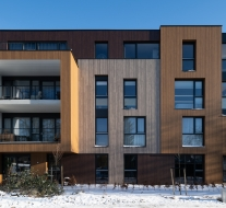 Appartementencomplex Haut met Rockpanel Woods