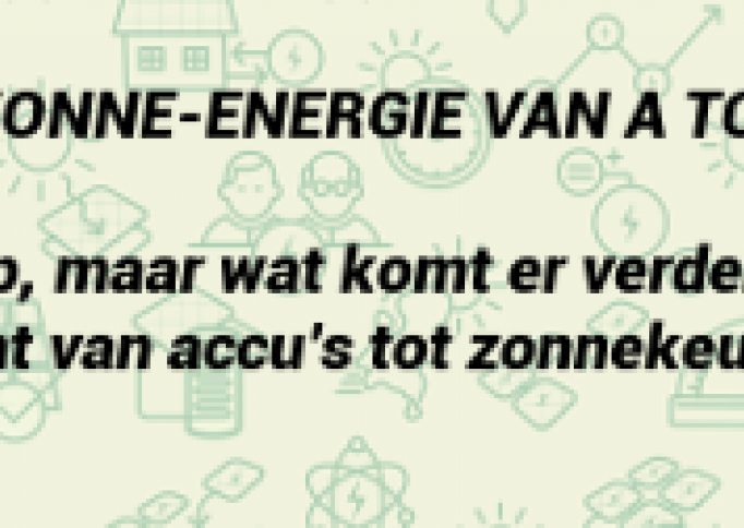 Banner infographic zonne-energie