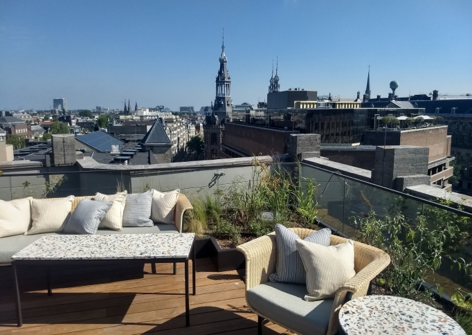 Zinco retentiedak Soho House Amsterdam
