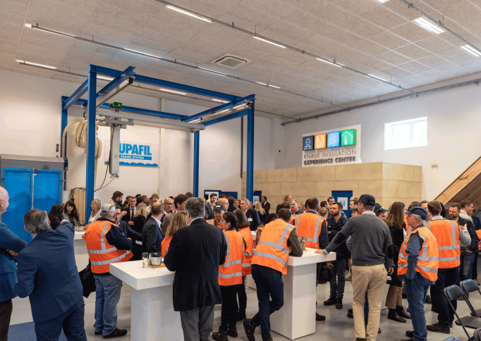 Knauf Insulation Experience Center bezoekers