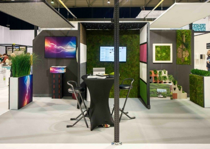 Soundless Acoustics Greenwall mummiemos op de beurs