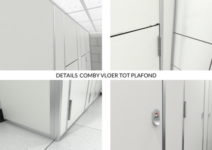 Details Comby sanitaire cabine vloer tot plafond 2