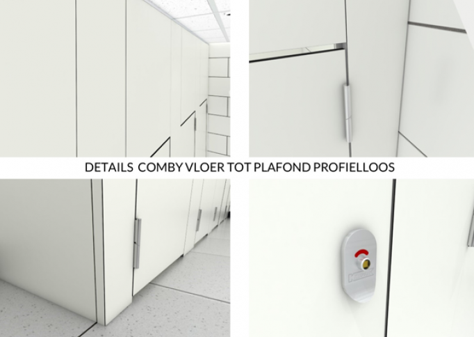 Details Comby sanitaire cabine vloer tot plafond profielloos 2