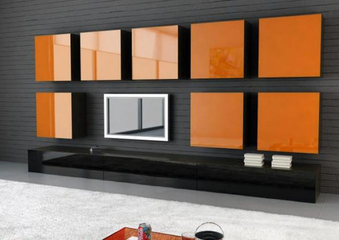 AGC Flat Glass - Lacobel gelakt glas - orange classic 2001
