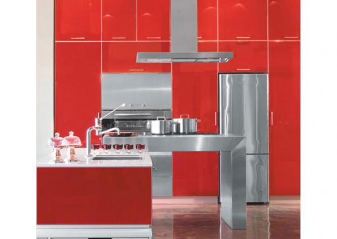 AGC Flat Glass - Lacobel gelakt glas - red luminous 1586