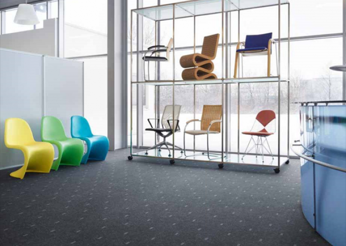 Naaldvilt Markant graphic city van Forbo Flooring